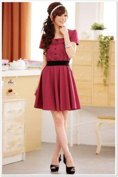 wholesale women dress k8202 Red