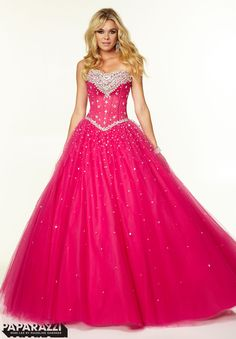 Prom Dresses / Gowns Style 97002: Crystal Beading on Tulle Ballgown http://www.morilee.com/prom/paparazzi/97002