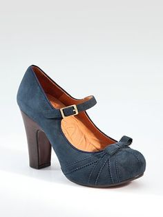 Cute suede mary jane pumps