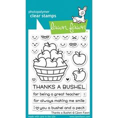 RESERVE Lawn Fawn THANKS A BUSHEL Clear Stamps LF1208 Preview Image