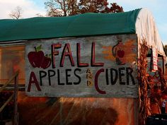 Fall Apples and Cider sign Autumn Cozy, Fall Winter, Fall Days, 8 Days, The Wicked The Divine, Autumn Aesthetic, Happy Fall Y'all, Autumn Inspiration, Fall Season