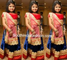 Pretty Girl in Velvet Lehenga ~ Celebrity Sarees, Designer Sarees, Bridal Sarees, Latest Blouse Designs 2014