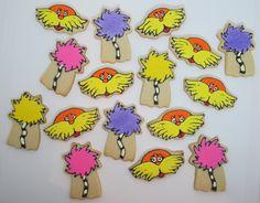 Lorax cookies by Cookies in the Cupboard