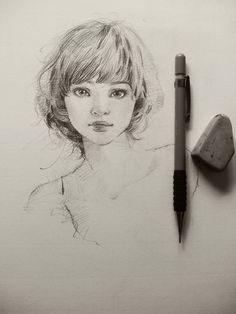 portrait pencil graphite girl sketch drawing