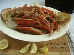 Crab Legs Scampi by Kitchen Dreaming