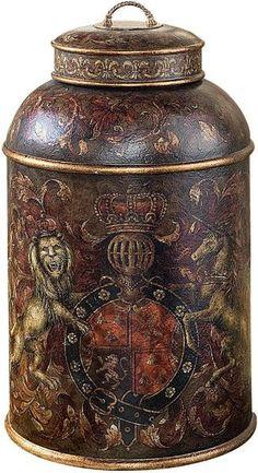 Lion Crest Tea Caddy - love it