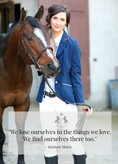 """We lose ourselves in the things we love. We find ourselves there too.""  Featured is O'Shaughnessey Apparel's navy blue Kileyann Show Coat"