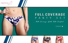 Get Full Coverage Panty Set At Prestitia.for more visit http://www.prestitia.co.in/