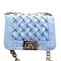 $16.47 Elegant Women's Shoulder Bag With Weaving and Chains Design