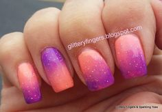 Glittery Fingers & Sparkling Toes: China Glaze Ultra Bright Gradient
