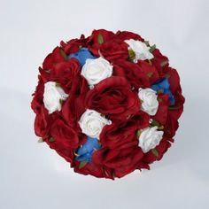 Red, White and Blue Bridal Posy