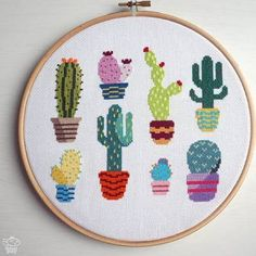 Cactus Modern Cross Stitch Pattern PDF - Instant Download. Cute Cross Stitch. Succulents Counted Cross Stitch Chart. Cacti Plants Design