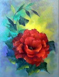 Dessin et peinture - vidéo 2155 : Peindre les roses en rouge - acrylique ou huile.
