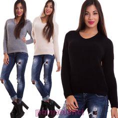 Maglione donna pullover maglia cappuccio tricot maniche lunghe nuovo AS-1647 in Abbigliamento e accessori, Donna: abbigliamento, Maglioni e cardigan | eBay