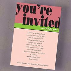 Read About The Suggested Adult Birthday Invitation Etiquette Dos And Donts