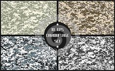 Eight different vector camouflages. forest and urban. with a minimum number of layers Camouflage, Numbers, Layers, Urban, Layering, Military Camouflage, Camo, Military Style