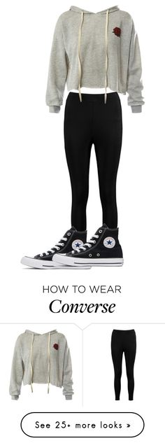 """Dont @ me. JK guys I just started. watching Jacksfilms"" by ella43221 on Polyvore featuring Boohoo, Sans Souci and Converse"