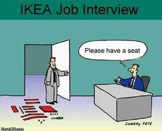 entrevista de trabajo IKEA. Por favor, tome asiento
