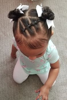 Black Baby Girl Hairstyles, Easy Toddler Hairstyles, Easy Little Girl Hairstyles, Kids Curly Hairstyles, Mixed Baby Hairstyles, Natural Hairstyles, Girl Hair Dos, Baby Hair Dos, Toddler Hair Dos
