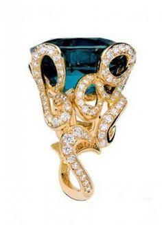 Dior Green Tourmaline & Diamond Ring