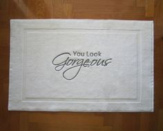 BATH MAT Embroidered Tub Mat You Look By Letsdecorateonline