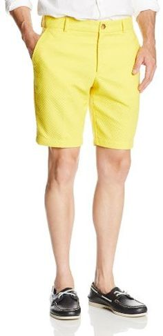 $40, Yellow Shorts: Trina Turk Mr Turk Kendall Piquet Short. Sold by Amazon.com. Click for more info: https://lookastic.com/men/shop_items/64422/redirect