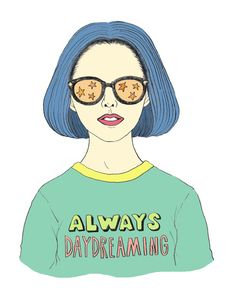 "incrediblestringchild: "" Ghost World, 1997 "" Funny Drawings, Art Drawings, Phrase Cute, Ghost World, Pink Lady, Illustration Girl, Illustration Fashion, Daydream, Art Inspo"