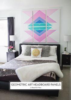 10 SEPTEMBER DIYS – Geometric Art Headboard Panels