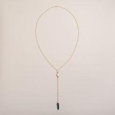 Gold and Genuine Quartz Lariat Necklace | World Market (1 please)