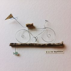 Box frame Wire Sculpture Bike Design  3D by SophieDumontDesigns