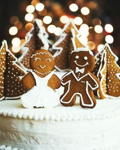 super cute gingerbread men for winter wedding cake topper! perfect for your wedding decorations 20 Amazing Winter Wedding Ideas - UK Our Wedding Day, Perfect Wedding, Dream Wedding, Wedding Reception, Wedding Hair, Budget Wedding, Purple Wedding, Wedding Tips, Lace Wedding