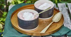 Tejszínes szilvaleves recept | Street Kitchen Fondue, Panna Cotta, Cheese, Ethnic Recipes, Dulce De Leche