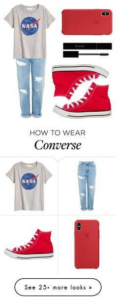 """More NASA✌"" by paris-is-for-me on Polyvore featuring Topshop, Converse and Gucci"