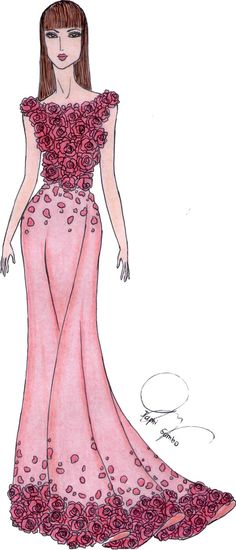 25 best fashion sketches images on Pinterest | Evening dresses ...