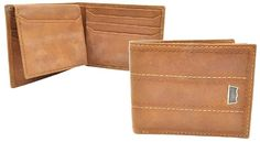 Levi's Tan Double Layer Stitching Bifold Passcase Wallet