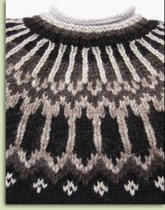Have a cardigan like this. It is very warm so you better wear it on a very cold day. Fair Isle Knitting Patterns, Knitting Stitches, Knitting Designs, Crochet Patterns, Icelandic Sweaters, Nordic Sweater, Felted Slippers, Knitting Accessories, Christmas Knitting