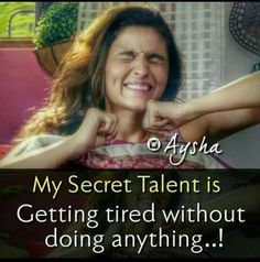 I m tired 😴 bcoz I was watching TV in my full 🌕 day 😜 Quotes Thoughts, Girly Attitude Quotes, Girly Quotes, Best Friend Quotes Funny, Funny True Quotes, Movie Quotes, Crazy Girl Quotes, Real Life Quotes, Reality Quotes