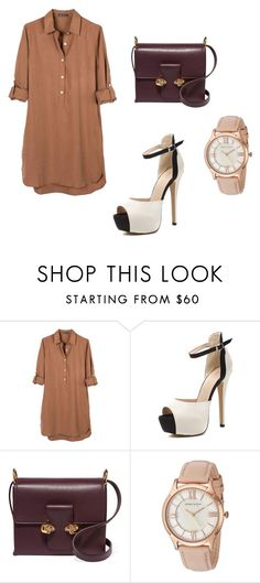 """""""Brown Dress."""" by sandra-boguslawska ❤ liked on Polyvore featuring United by Blue, Alexander McQueen and Anne Klein"""