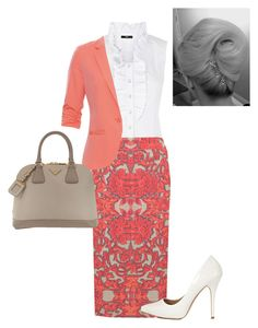 """""""day at the office"""" by apostolic-pentecostal-holiness ❤ liked on Polyvore featuring Oasis, Monsoon, mbyM, Reiss and Prada"""