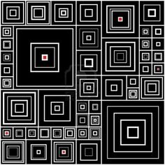 Black and White Quilt with tiny reds