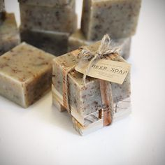 Image of JUST a Lil' BEER Soap with wooden soap dish Gift Set Made In The OZARKS ❖