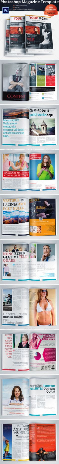 #Multipurpose #Magazine Template (Photoshop PSD) - Magazines Print Templates Download here: https://graphicriver.net/item/multipurpose-magazine-template-photoshop-psd/6016682?ref=alena994