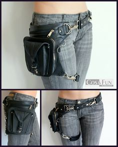 Holster leather bag Handmade by CosAndFunWorkshop on Etsy