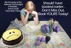 Southport Railway Club hosts 18th-21st parties too! Book yours today! (*subject to T)