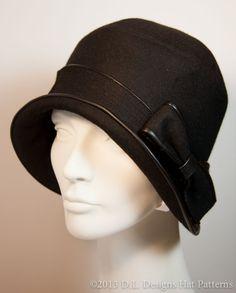 Modèle de chapeau Cloche 1920 ' s Style par DLDesignsHatPatterns