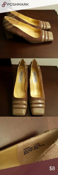 Women's Suede Pumps Gently Used Suede Pumps. Size 10 Wide. Color is Brownish and  A Dark Taupe. Square Toe. No Box. Bellini Shoes Heels
