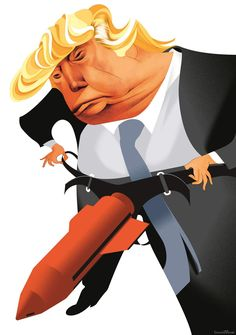 Image result for caricature trump cornered