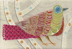 Nancy Nicholson is so talented!! Look at her machine embroidery