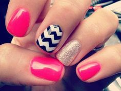 Brightly Coloured Nails
