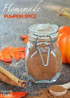 Homemade Pumpkin Spice Simplistically Living